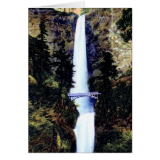 Bridal Veil Oregon Multnomah Falls Benson Foot Bri Card