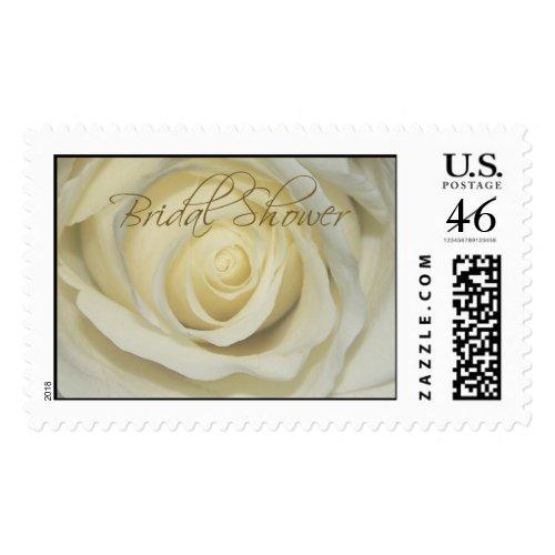Bridal Wedding Shower Cream Rose Postage stamp
