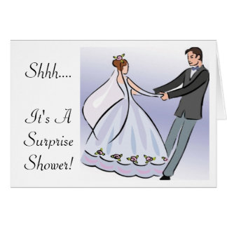 Bridal/Wedding Shower Invitation-It's a Surprise Card