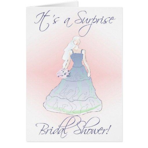 Bridal Wedding Shower Invitation Its A Surprise Card