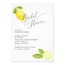 Bridal / Wedding Shower Invitation with Lemon