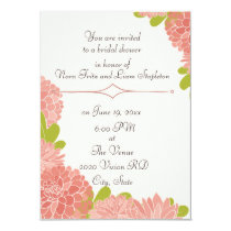 Bridal Wedding Shower With Dusty Pink Dahlias Card