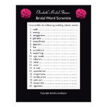 Bridal Wedding Shower Word Scramble Game Letterhead