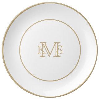 Bridal White Dinner Plate