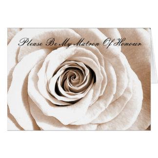 Bridal white Matron Of Honour Card