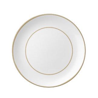 Bridal White Porcelain Plate