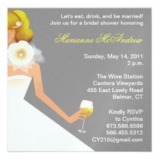 Bridal Wine Ensemble Custom Announcement