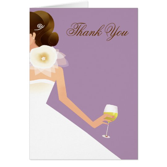 Bridal Wine Ensemble (lilac) Card