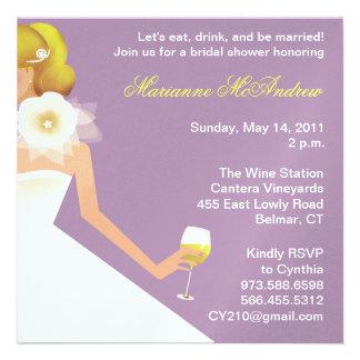 Bridal Wine Ensemble (lilac) Custom Invitation