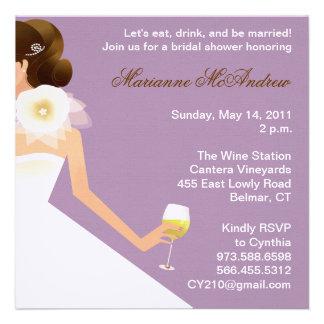 Bridal Wine Ensemble (lilac) Personalized Announcement