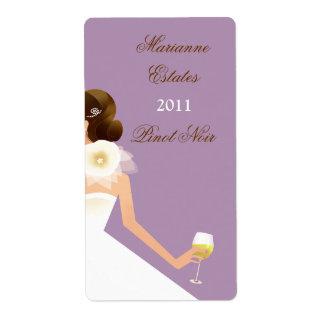 Bridal Wine Ensemble (lilac) Label