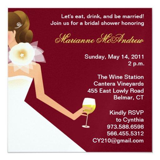 Bridal wine invitation