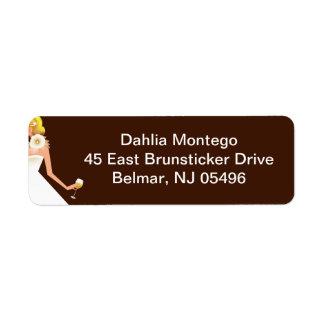 Bridal Wine Invitation (Blonde on brown w/white) Label