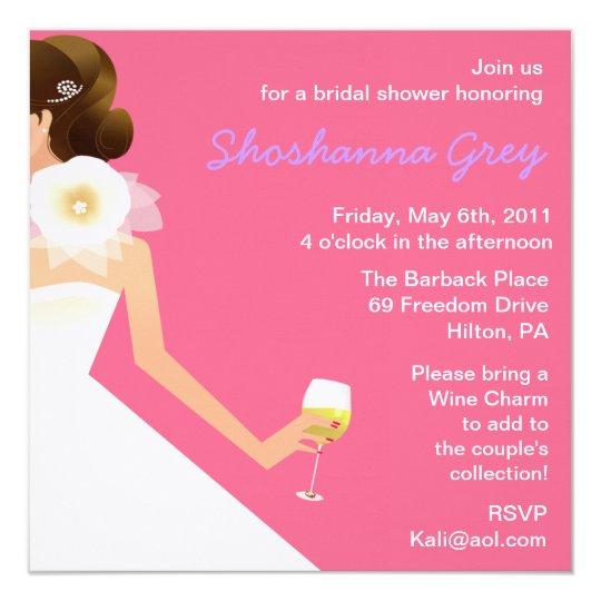 Bridal wine invitations
