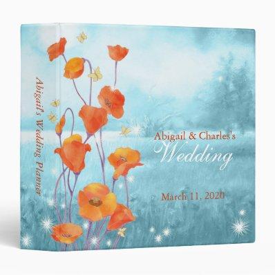 """BridalHeave Red Poppy Wedding Planner Binder 1.5""""  Binder"""