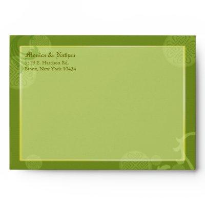 BridalHeaven Irish Wedding Invitation A7 Envelopes by BridalHeaven