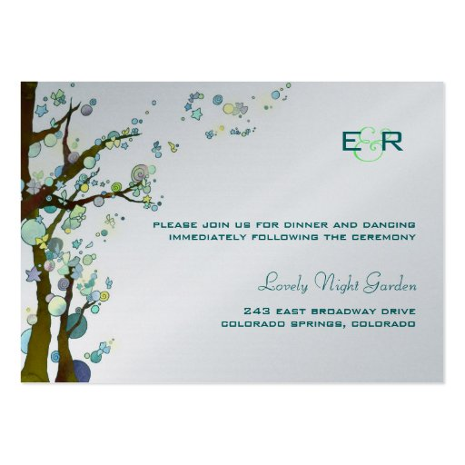 BridalHeaven Lovely Night Reception Card (3.5x2.5) Business Card Templates