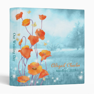 "BridalHeaven Poppy Wedding Photo Book Albums (1"") 3 Ring Binder"