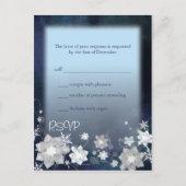 BridalHeaven SnowFlowers Wedding RSVP (4.25x5.6) postcard