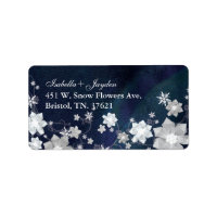 BridalHeaven Winter Wedding Return Address Labels label