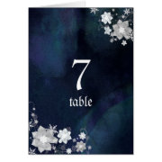 BridalHeaven Winter Wedding Table Number Cards card
