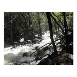 Bridalveil baja Yosemite Tarjetas Postales