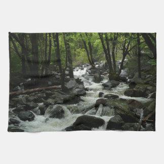 Bridalveil Creek in Yosemite National Park Kitchen Towel