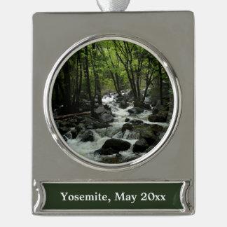 Bridalveil Creek in Yosemite National Park Silver Plated Banner Ornament