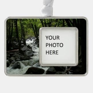 Bridalveil Creek in Yosemite National Park Silver Plated Framed Ornament