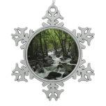 Bridalveil Creek in Yosemite National Park Snowflake Pewter Christmas Ornament