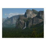 Bridalveil Falls and Half Dome at Yosemite Card