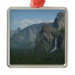 Bridalveil Falls and Half Dome at Yosemite Metal Ornament