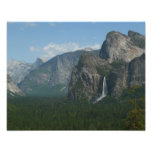 Bridalveil Falls and Half Dome at Yosemite Photo Print