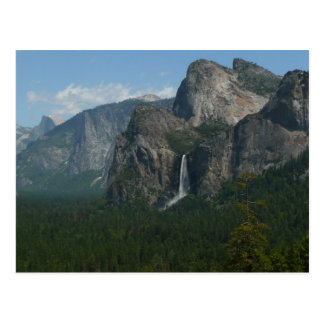 Bridalveil Falls and Half Dome Yosemite Postcard