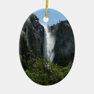 Bridalveil Falls at Yosemite National Park Ceramic Ornament