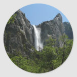 Bridalveil Falls at Yosemite National Park Classic Round Sticker