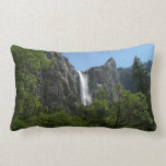 Bridalveil Falls at Yosemite National Park Lumbar Pillow