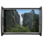 Bridalveil Falls at Yosemite National Park Serving Tray