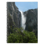 Bridalveil Falls at Yosemite National Park Spiral Notebook