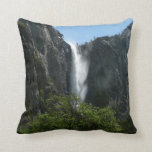 Bridalveil Falls at Yosemite National Park Throw Pillow