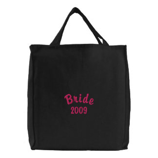 Bride 2009 embroidered tote bag