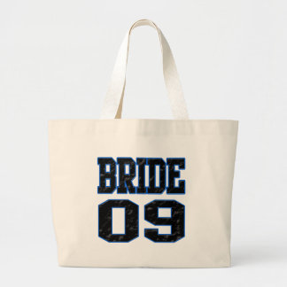 Bride 2009 large tote bag