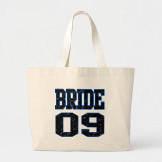 Bride 2009 large tote bag