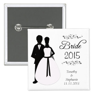 Bride 2010 swirls wedding favor pinback button
