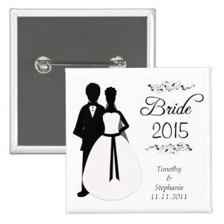 Bride 2010 swirls wedding favor pinback button