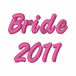 Bride 2011 embroidered hoody