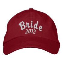 Bride 2012 embroidered baseball cap