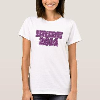 Bride 2014 in Purple T-Shirt