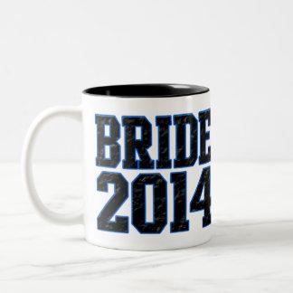 Bride 2014 Two-Tone coffee mug