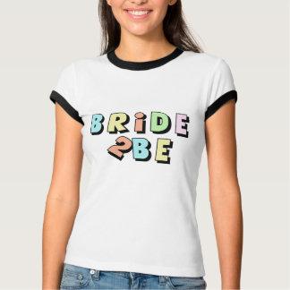 'Bride 2 Be' Pastel Colours Bachelorette T-Shirt